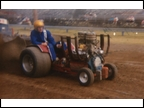 Dan May driving Gary Clines Tractor